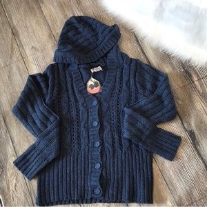 Hooded Blue Cardigan